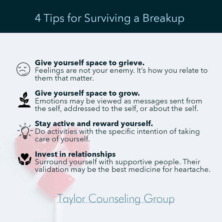 Tips for surviving a breakup