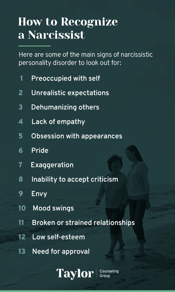 how to recognize a narcissist